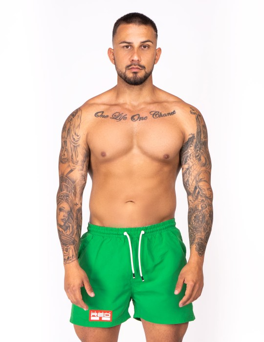 DOUBLE RED Aqua Swimshorts Green