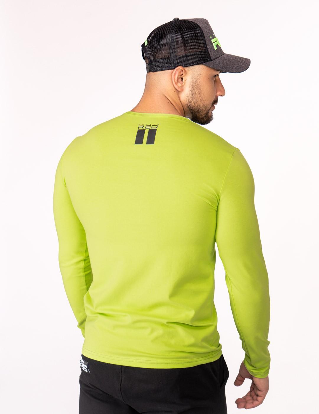 Red Neon Long Sleeve T-Shirt Green