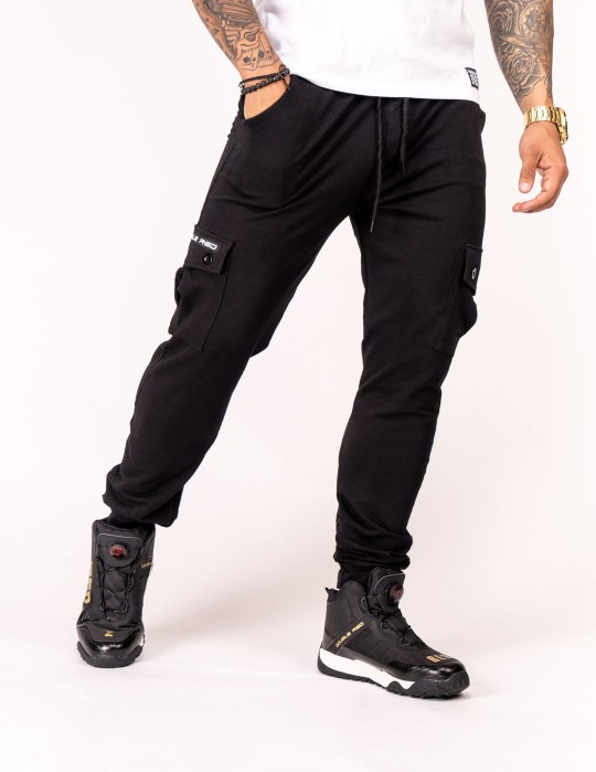Sweatpants Side Pocket Black