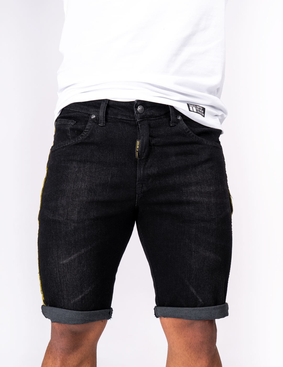 RED JEANS Shorts KUNG FU MASTER Black