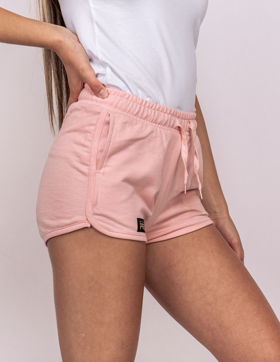 DOUBLE RED Basic Summer Shorts Pink