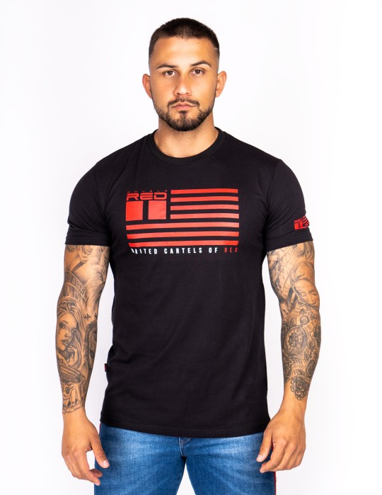 United Cartels Of Red UCR T-shirt Black