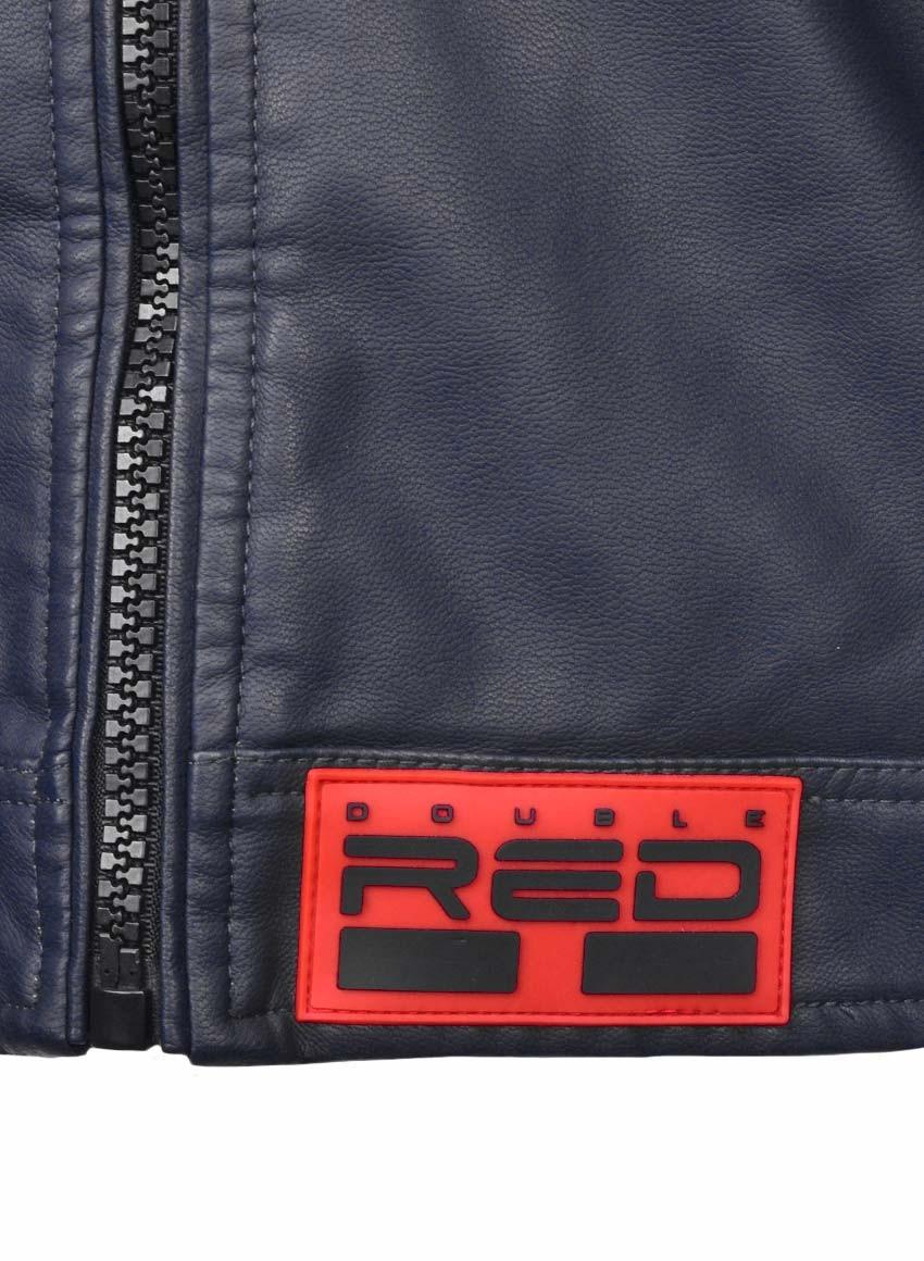 MONTECARLO Leather Jacket Dark Blue