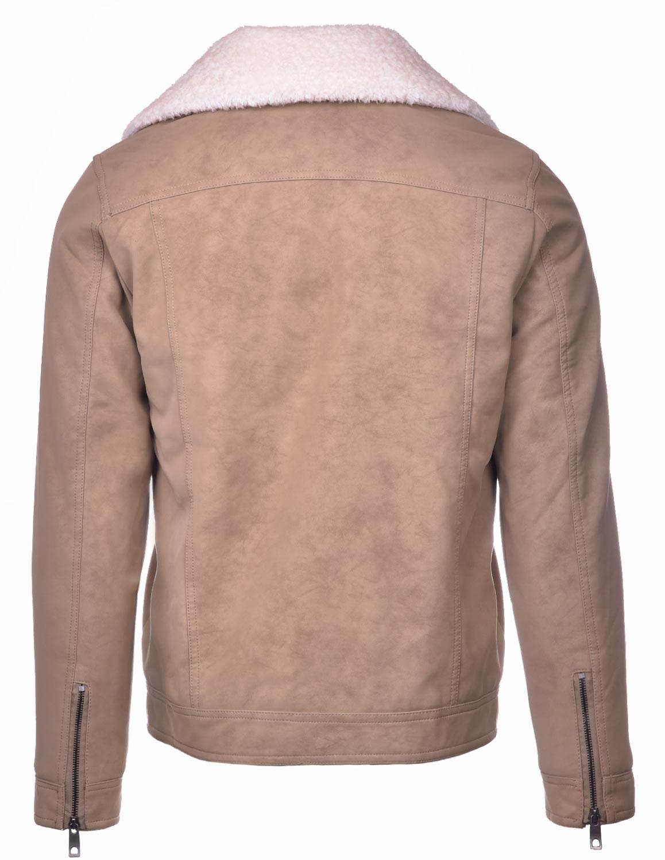 MONTECARLO Leather Jacket Beige