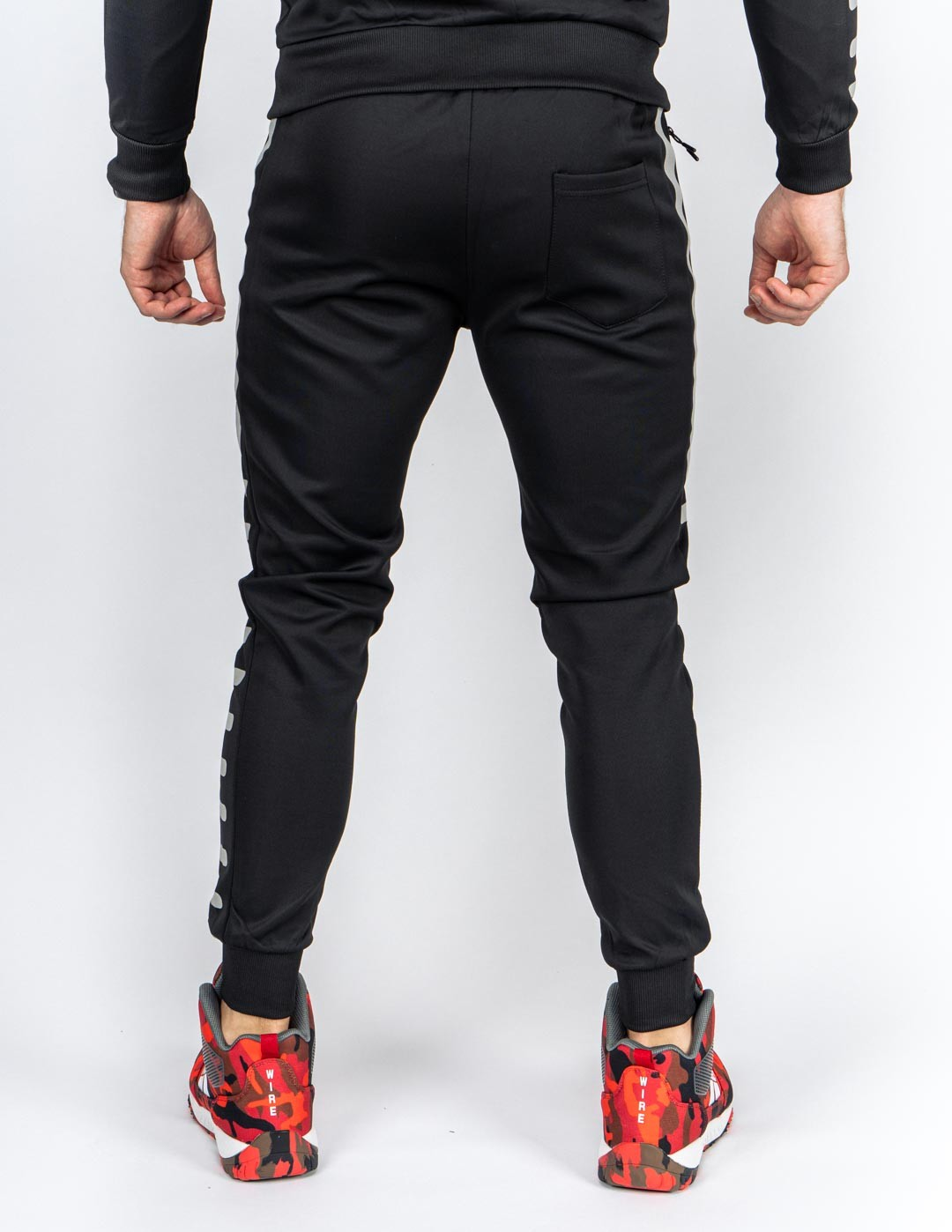 REFLEXERO SPORT IS YOUR GANG Tracksuit Black/Sliver