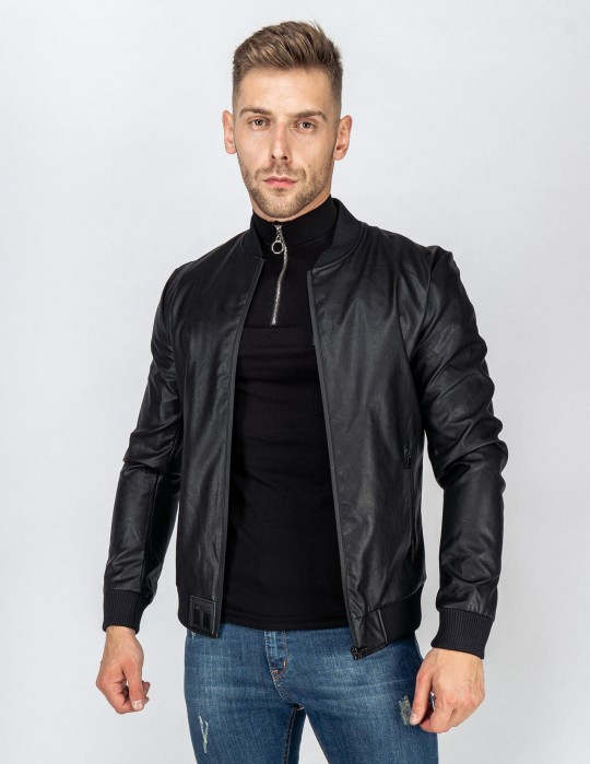 SOPRANO Leather Jacket Black