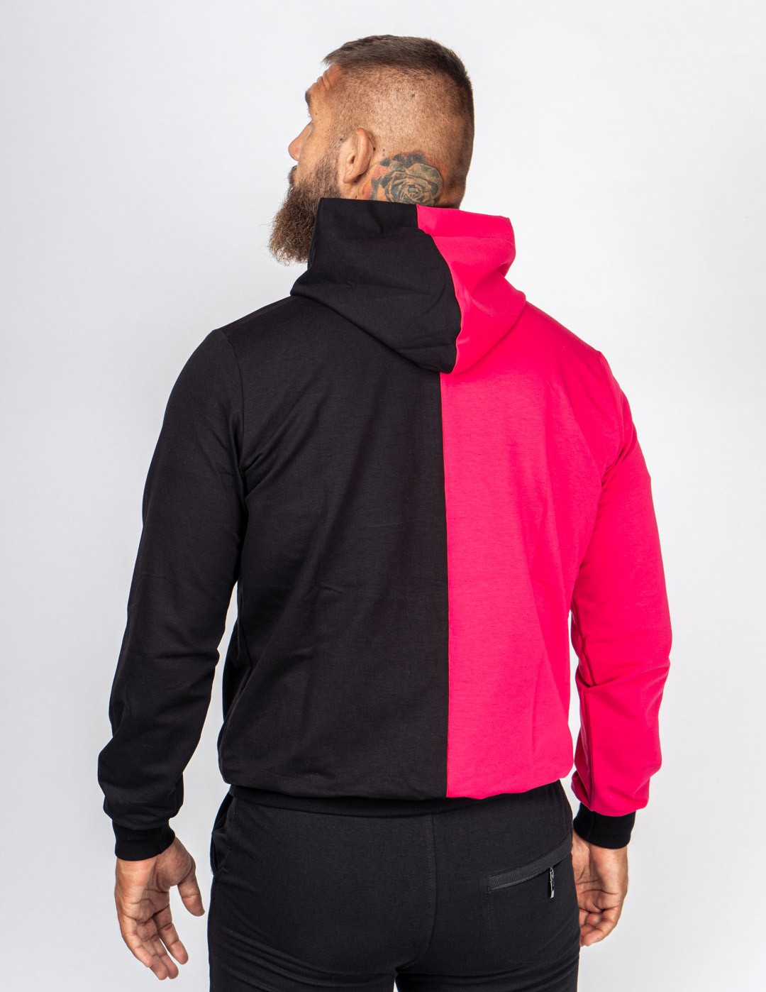 Hoodie Neon Street Collection Black/Pink