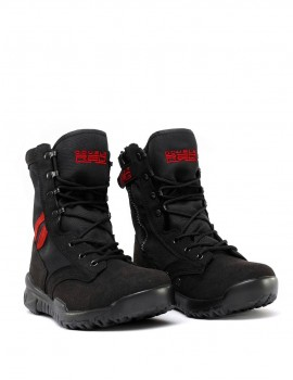 Boots Black Red Desert