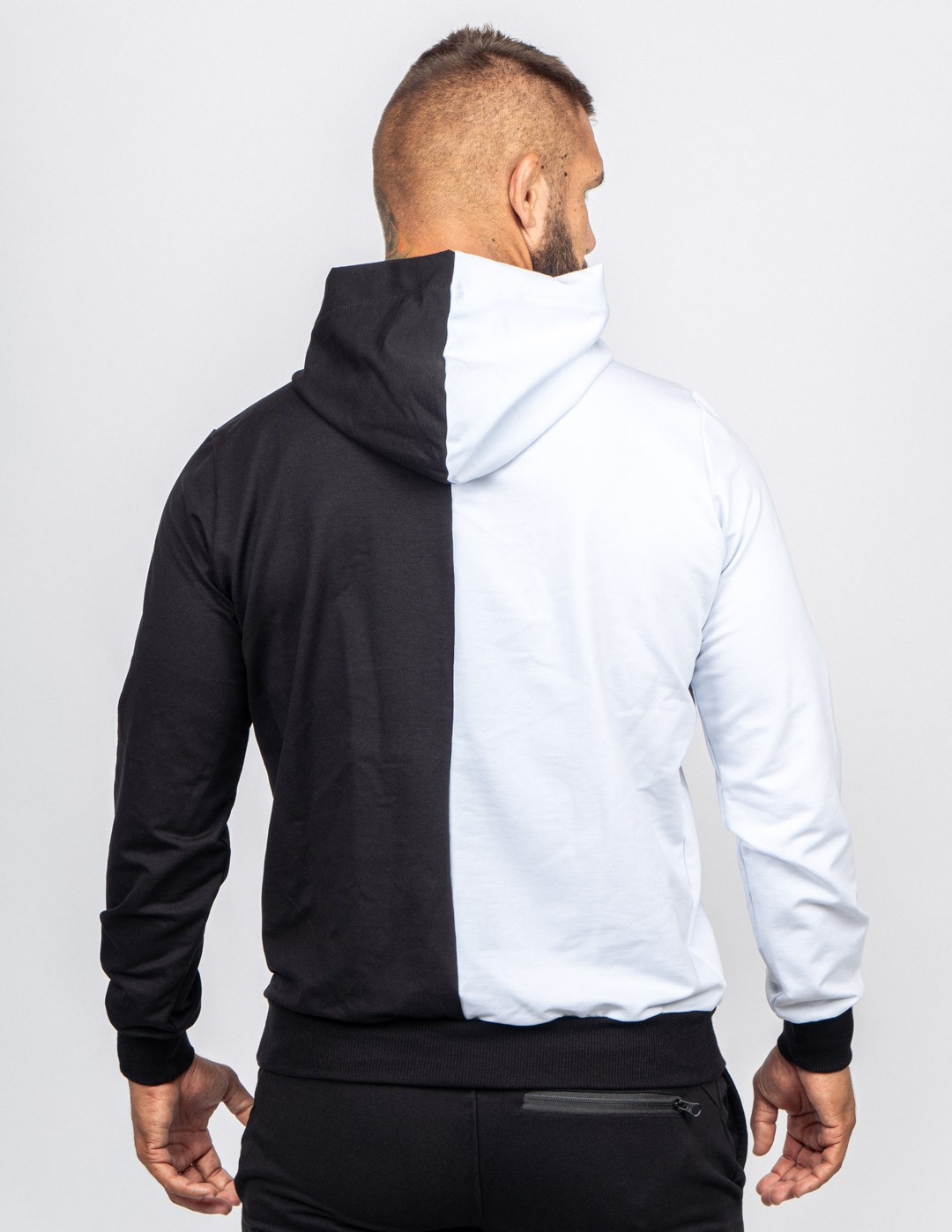 Hoodie DOUBLE FACE BW TRADEMARK Black/White