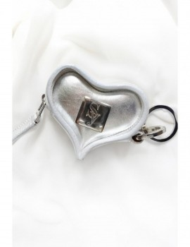 SILVER HANDMADE KEYBAG GENUINE LEATHER