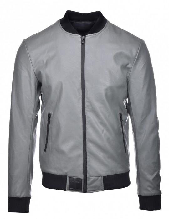 SOPRANO Leather Jacket Grey