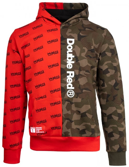 Hoodie DOUBLE FACE GEOMETRIX Red/Green Camo