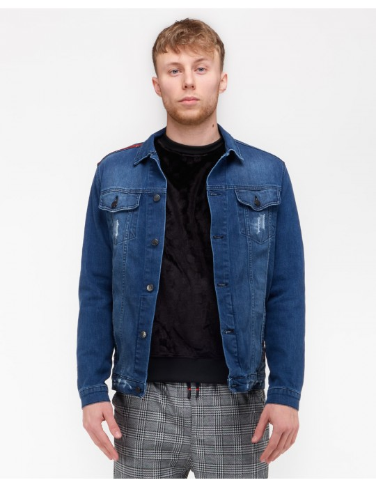 RED HERO All Logo Jeans Jacket