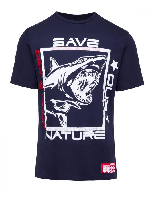 Natural Predators Shark T-Shirt Navy