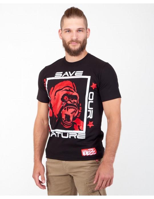 Natural Predators Gorilla T-Shirt Black