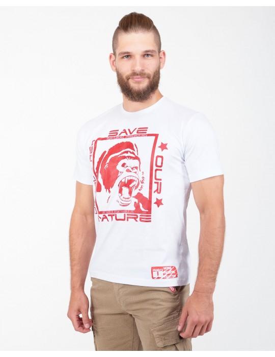 Natural Predators Gorilla T-Shirt White