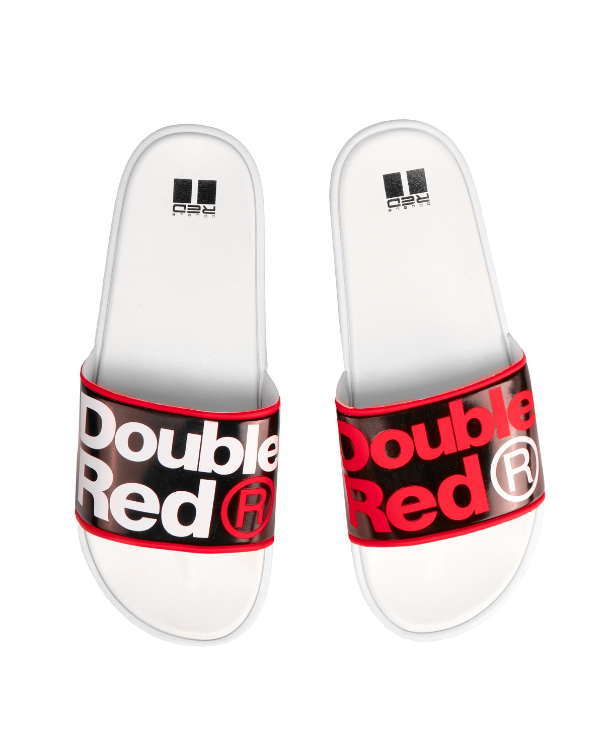 Classic DOUBLE RED Slippers White