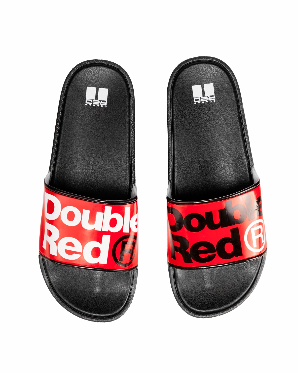 Classic DOUBLE RED Slippers Black