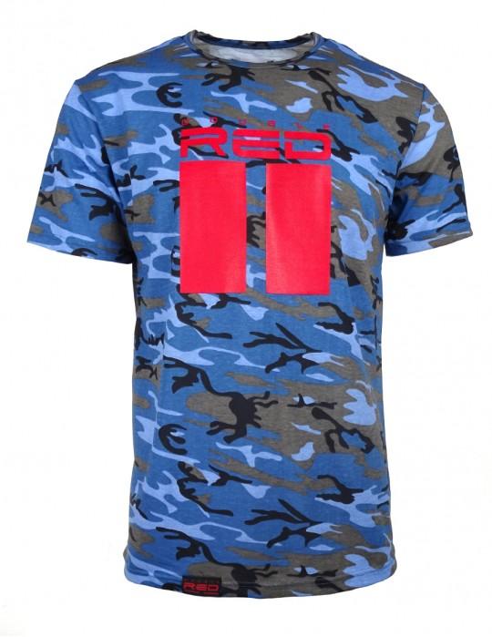 Tričko DR M Blue Camo  All Logo