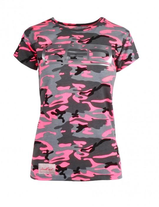 DR W T-shirt Grey Pink Camo