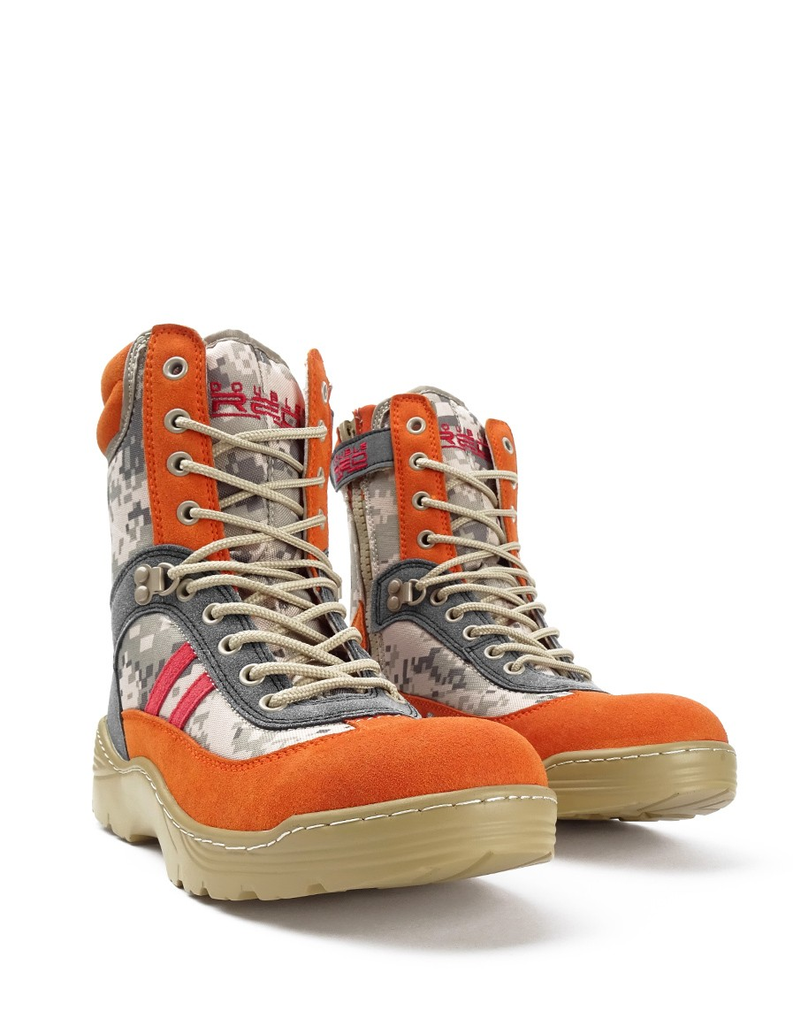 Boots Crazy Army Color Red Desert Digital Orange
