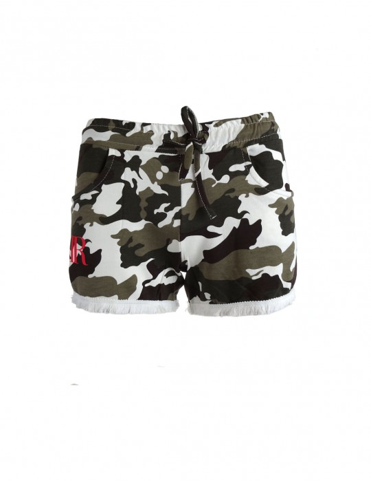Limited DR W Green Camo Sweatshorts
