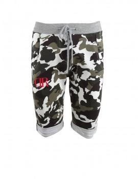 Limited DR W Green Camo Short Sweatpants