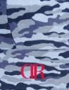 DR W Blue Camo Crop Top