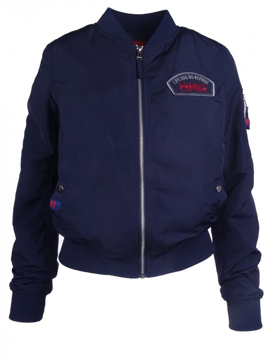 DR W Flight Jacket LHNR Blue
