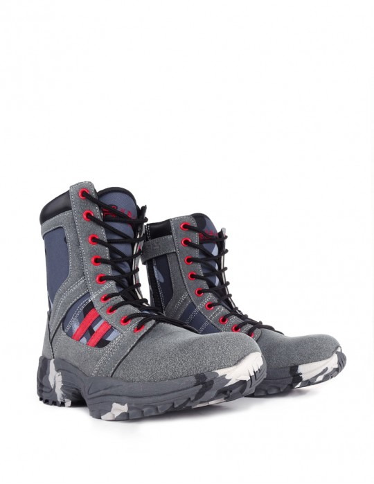 Boots Blue/Grey Camo Crazy Army Color