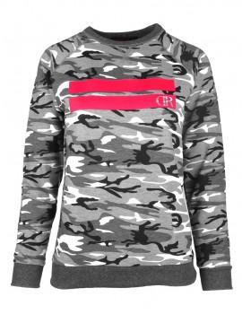 Sweatshirt Stripes B&W Camo