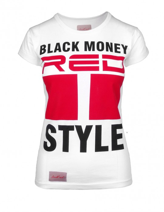 DR W Black Money Style T-shirt White
