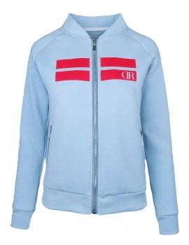 Bomber Sweatshirt Stripes Baby Blue
