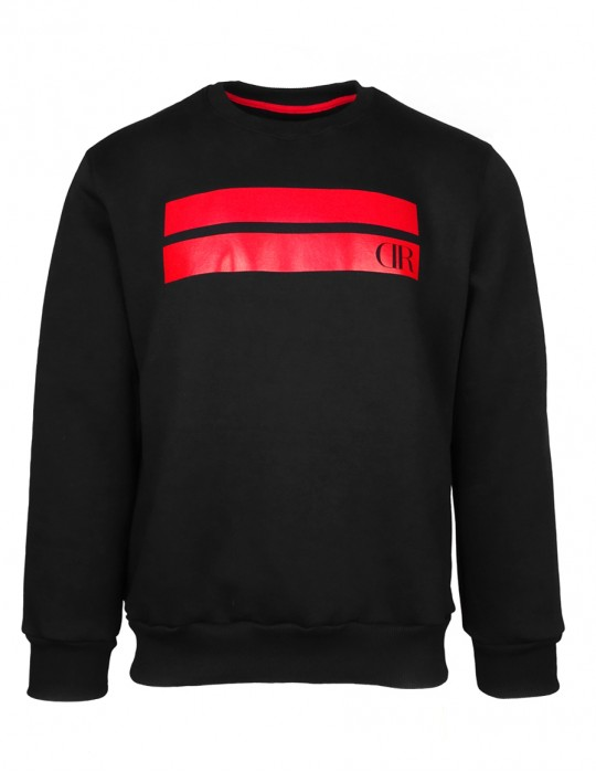 Sweatshirt Stripes Black