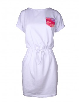 DR Summer Short Tee Dress White