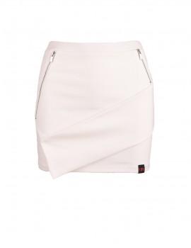 DR Babe Short Asymmetric Skirt White