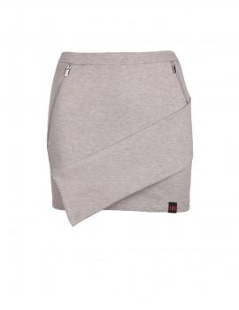 DR Babe Short Asymmetric Skirt Grey