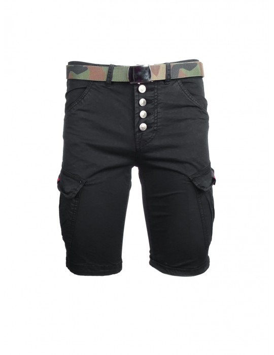 DR M Cargo Shorts Black