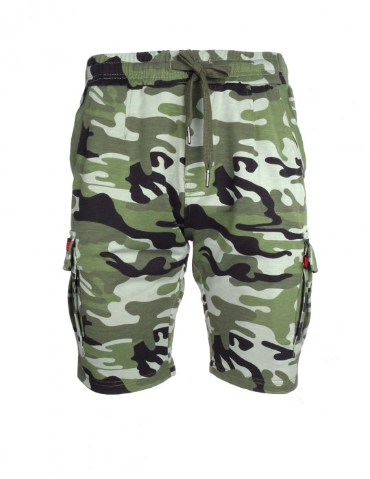 Woodland Sweat Shorts Camo Light Green