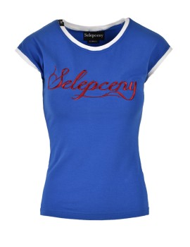 SELEPCENY BASIC BLUE COTTON T-SHIRT
