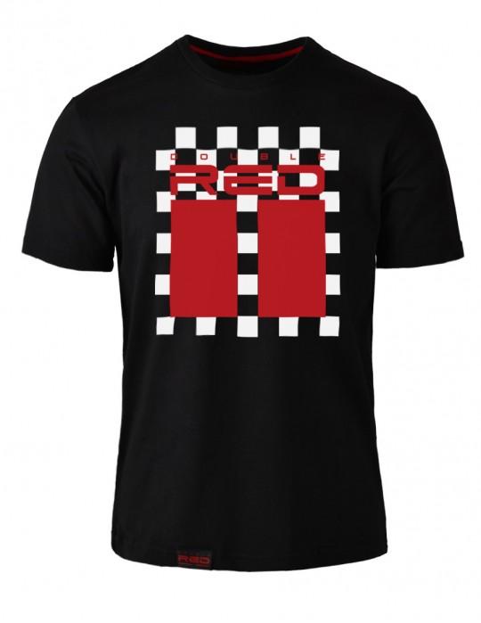 T-shirt RED CHESS Black