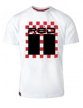 T-shirt RED CHESS White