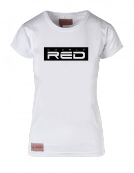 White T-shirt BASIC DOUBLE RED black