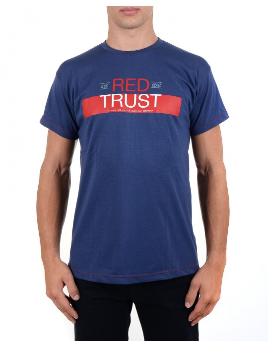 Blue T-shirt In Red We Trust