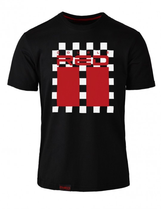 T-Shirt RED CHESS Black