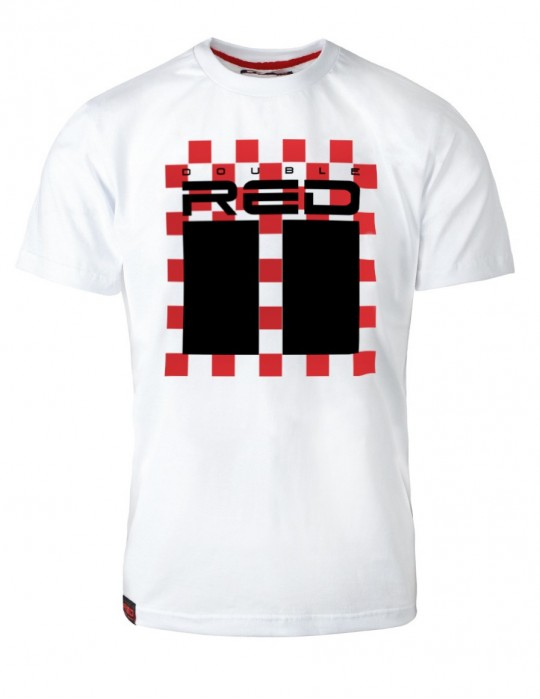 T-Shirt RED CHESS White