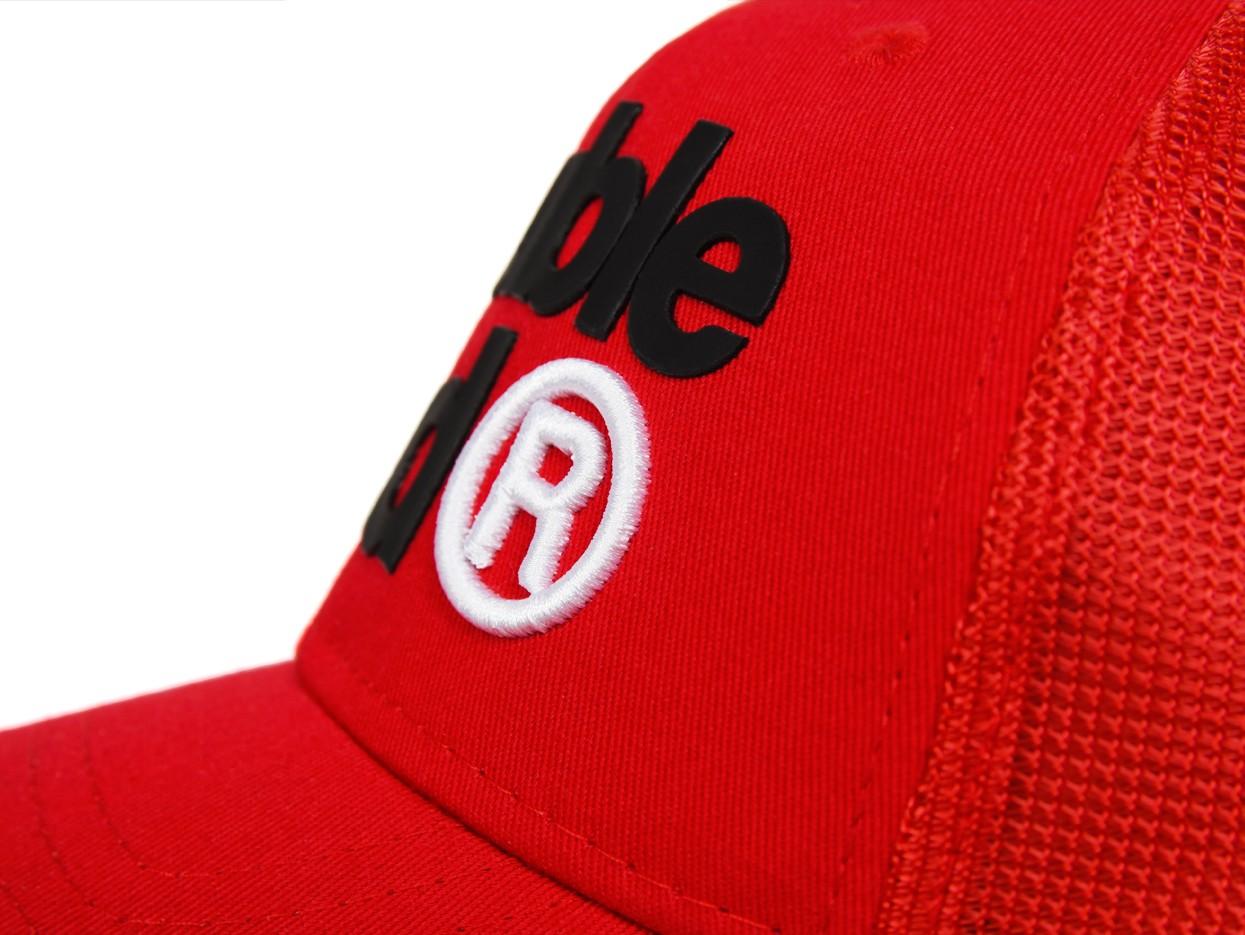 DOUBLE RED Trademark Trucker Cap Red