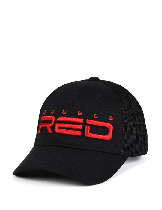 DOUBLE RED Airtech Mesh Cap Black