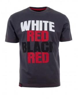 Šedé tričko White Red Black Red