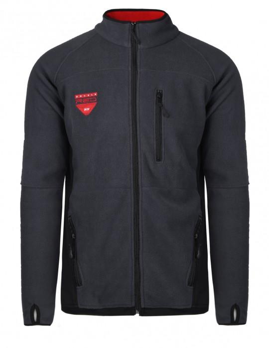 Men's fleece jacket grey/black